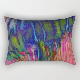 Electric Jellyfish Rectangular Pillow