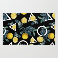Geometric and Lemon pattern II Rug