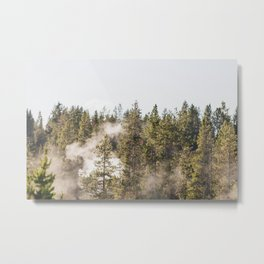 Blowing off some steam - Yellowstone  Metal Print