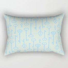 Victorian Pastel Turquoise Keys Rectangular Pillow