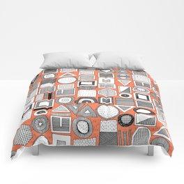 frisson memphis bw orange Comforters