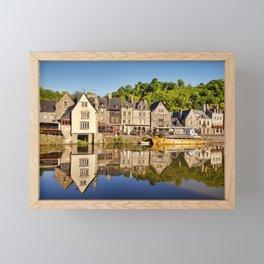 Port of Dinan, Brittany Framed Mini Art Print