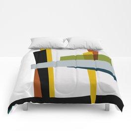 Mid Century Composition 3 Comforters