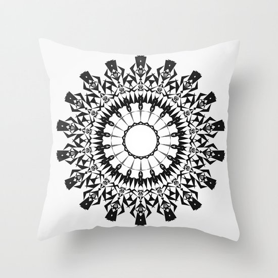 No Way Black Throw Pillow