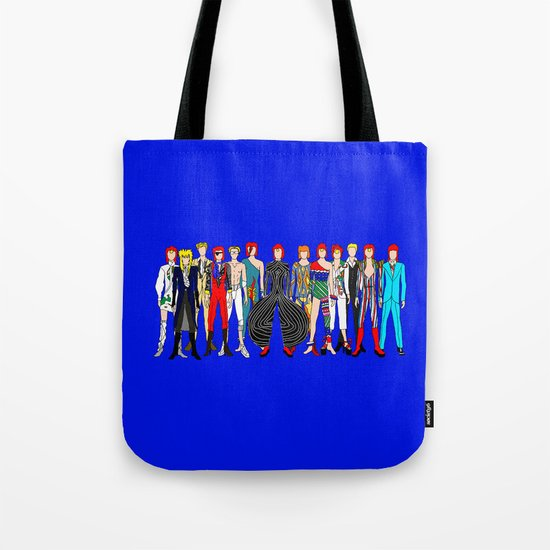Blue Bowie Group Fashion Outfits Tote Bag