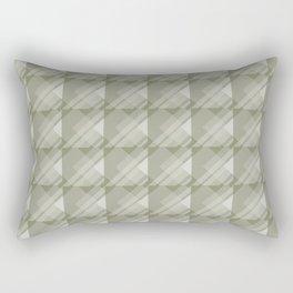 Modern Geometric Pattern 7 in Sage Green Rectangular Pillow