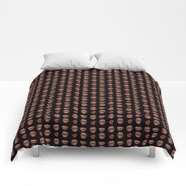 Loose Lips (on Designer Black Background) Comforters