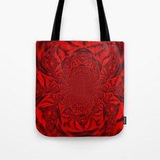 Red Kaleidoscope Tote Bag