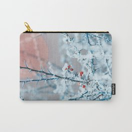 Snowy twigs and berries Carry-All Pouch