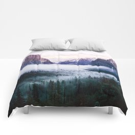 Misty Tunnel View - Yosemite National Park, CA Comforters
