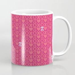 Hugs, Kisses, Love, and Pi - Pink  Coffee Mug