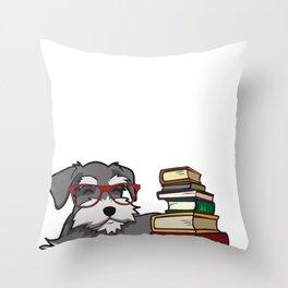 Schnauzer  - Schnauzer Gifts - books Throw Pillow