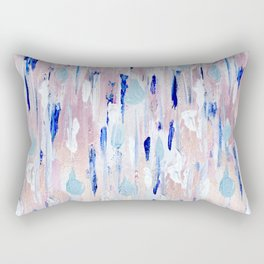 Abstract Painting Blue Pink Copper Rectangular Pillow