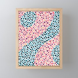 Abstract Dots Framed Mini Art Print
