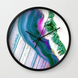 Agate Geode Wall Clock