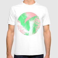 Tropical N White SMALL Mens Fitted Tee