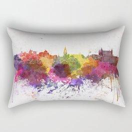 Toledo skyline in watercolor background Rectangular Pillow