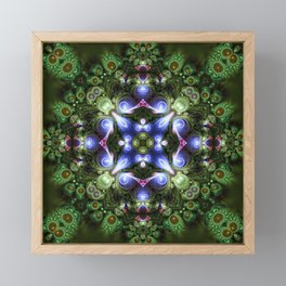 Fractal Forest Indigo Framed Mini Art Print