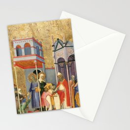 Andrea di Bartolo - Joachim and Anna Giving Food to the Poor and Offerings to the Temple Stationery Cards