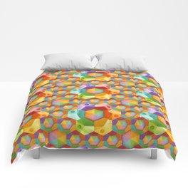 Rainbow Hexagons Comforters