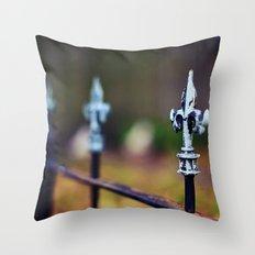 St. Louis Fleur de Lis Fence Throw Pillow