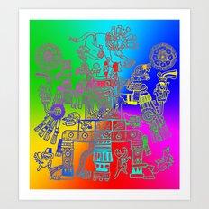 Xiuhtecuhtl Art Print