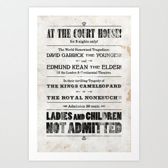 The Duke & The King Art Print