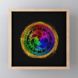 Chakra Blossom Mandala Framed Mini Art Print
