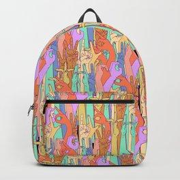 Wild Thing Hand on White Alphabet Illustration Backpack