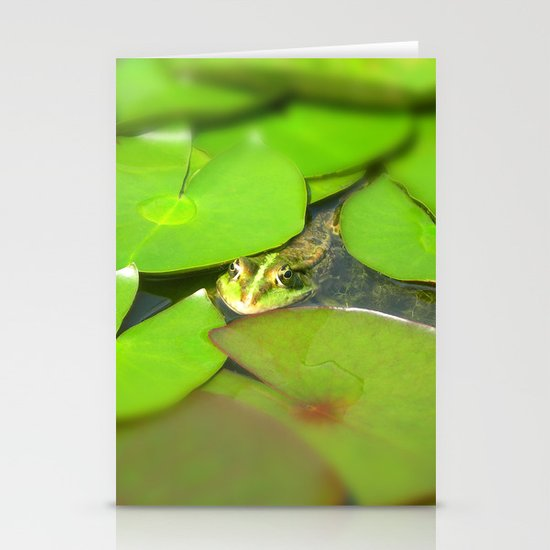 green frog I Stationery Cards