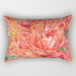 watercolor tulip flower Rectangular Pillow