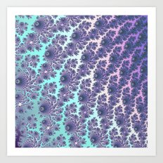 Mint Fractal Waterfall Art Print