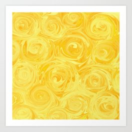 Honey Yellow Roses Abstract Art Print