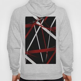 Seamless Red and White Stripes on A Black Background Hoody