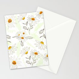 Spring time colorful daisies pattern Stationery Cards