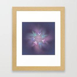 Circle Ribbon Dream Framed Art Print