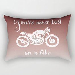 You're never lost on a bike Rectangular Pillow