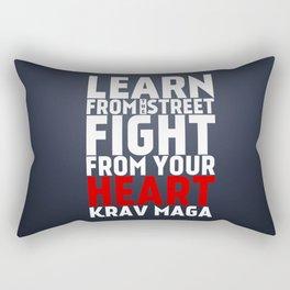 Learn from the Street Krav Maga Rectangular Pillow