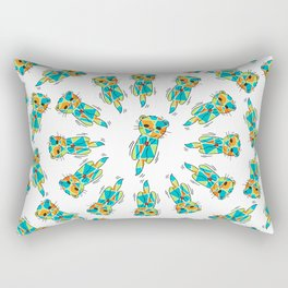 Synchronized Otters - Swim - 57 Montgomery Ave Rectangular Pillow