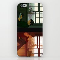 grantaire iPhone & iPod Skins featuring Enjolras & Grantaire by rdjpwns