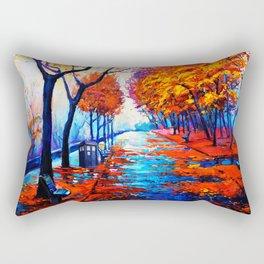 Tardis Art Tree Blossom Rectangular Pillow