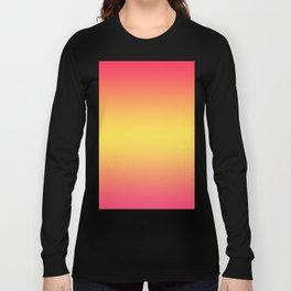 Ombre Anjo Raspberry Gold Gradient Long Sleeve T-shirt