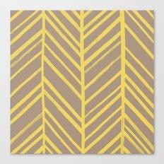 Painted Herringbone - in Marigold Canvas Print