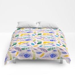 Jewel Tone Feathers Comforters