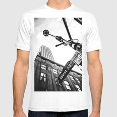 West 33rd street MEDIUM White Mens Fitted Tee
