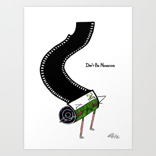 Negative Film Art Print