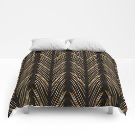 Wheat grass black Comforters
