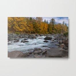 Fall on the Skykomish River Metal Print