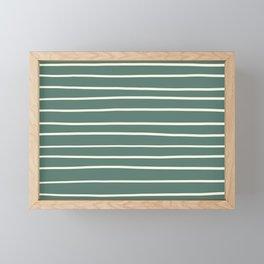 Dover White 33-6 Hand Drawn Horizontal Lines on Thistle Green 22-18 Framed Mini Art Print