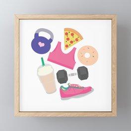 I'm Not Perfect, Fitness Pattern Framed Mini Art Print